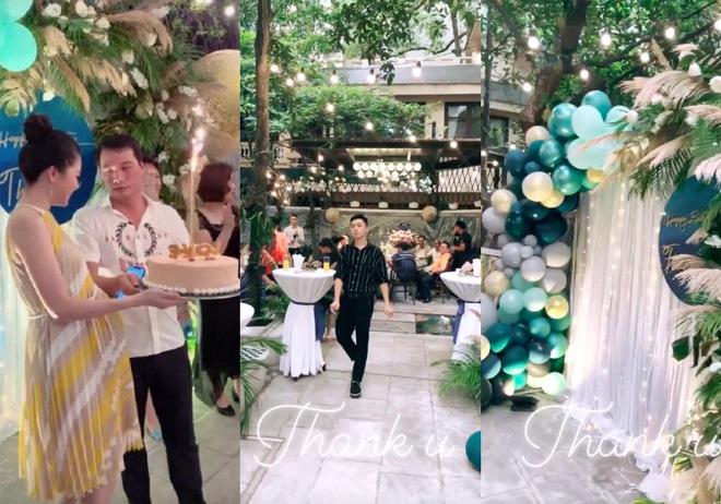Khu vực sân vườn rộng rãi từng được dùng là địa điểm tổ chức sinh nhật tại gia cho Á hậu Thanh Tú khi còn đang mang bầu.
