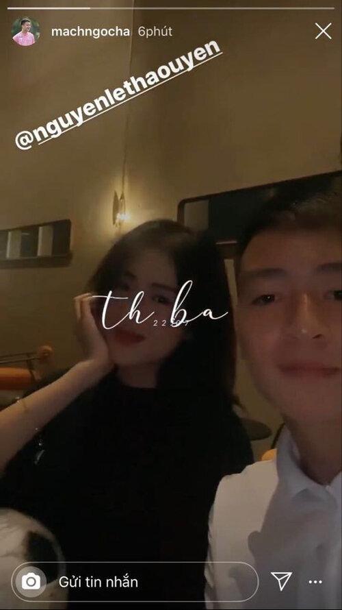 Thảo Uyên là bạn gái cầu thủ Mạch Ngọc Hà - bạn thân Quang Hải.