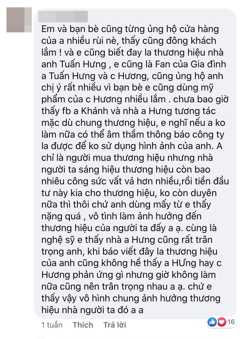Một số cư dân mạng không đồng tình với cách làm của Huy Khánh
