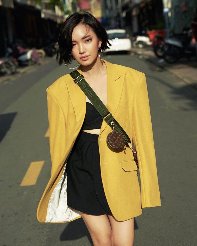 Năm 17 tuổi, Châu Bùi bước chân vào showbiz Việt với hình ảnh 1 người mẫu 'cò hương', cao 1m60 và nặng vỏn vẹn 39kg.