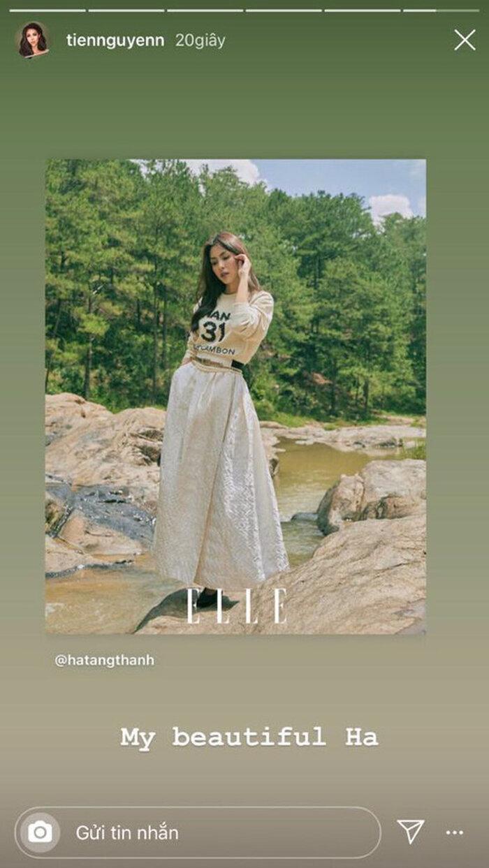 Hay trong một lần khác, ai nữ nhà tỷ phú từng chia sẻ lại hình ảnh của Hà Tăng trên tạp chí kèm lời khen ngợi: 'My beautiful Hà' (Chị Hà xinh đẹp của tôi).