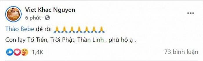 Bà xã Khắc Việt hạ sinh đôi trai gái đầu lòng, dàn sao Vbiz đồng loạt gửi lời chúc mừng 0