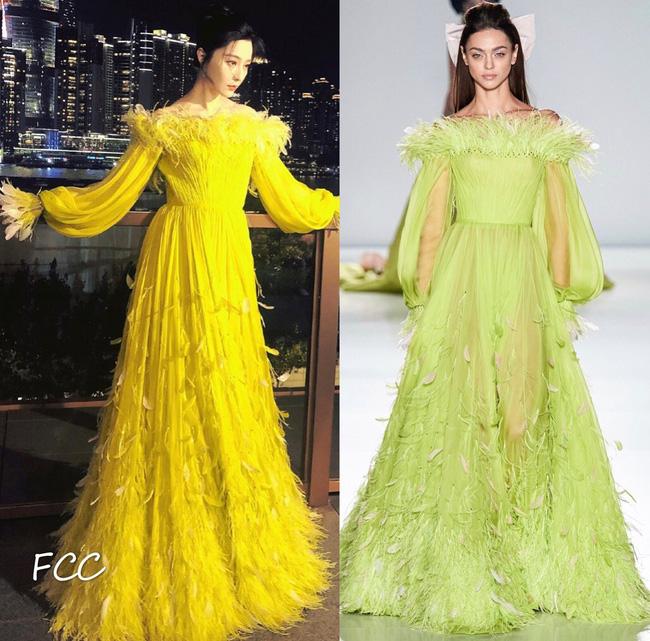 Nữ thần Kim Ưng Tống Thiến cùng chọn thương hiệu váy giống Phạm Băng Băng: Người xinh như tiên tử, người mặc lên nhìn như hàng chợ 1