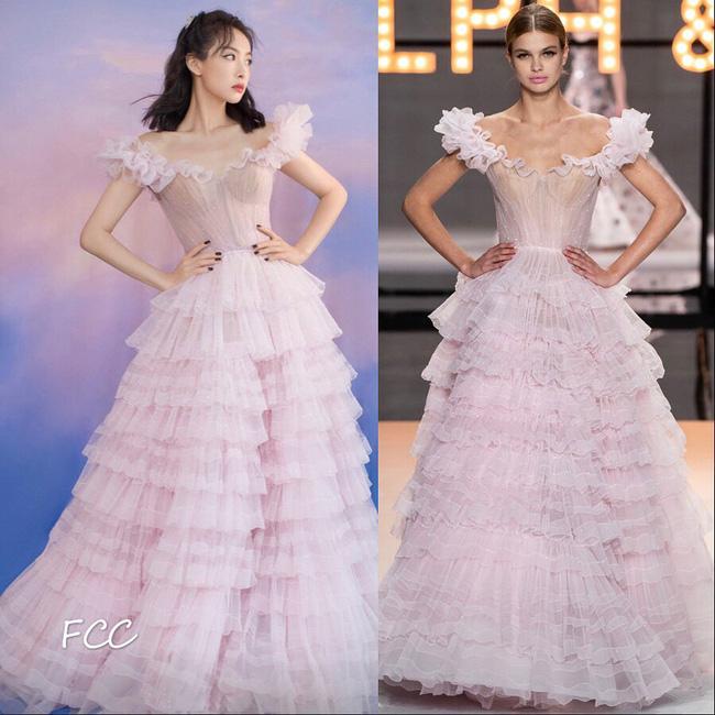 Nữ thần Kim Ưng Tống Thiến cùng chọn thương hiệu váy giống Phạm Băng Băng: Người xinh như tiên tử, người mặc lên nhìn như hàng chợ 7
