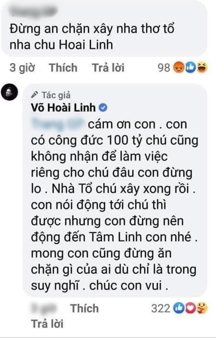 Bị antifan mỉa mai không bỏ tiền ra ủng hộ miền Trung, Hoài Linh đáp trả nhẹ nhàng khiến ai cũng hả hê 3