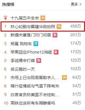 Lâm Tâm Như xóa hình Hoắc Kiến Hoa trên trang cá nhân lên Top hot search của Weibo.