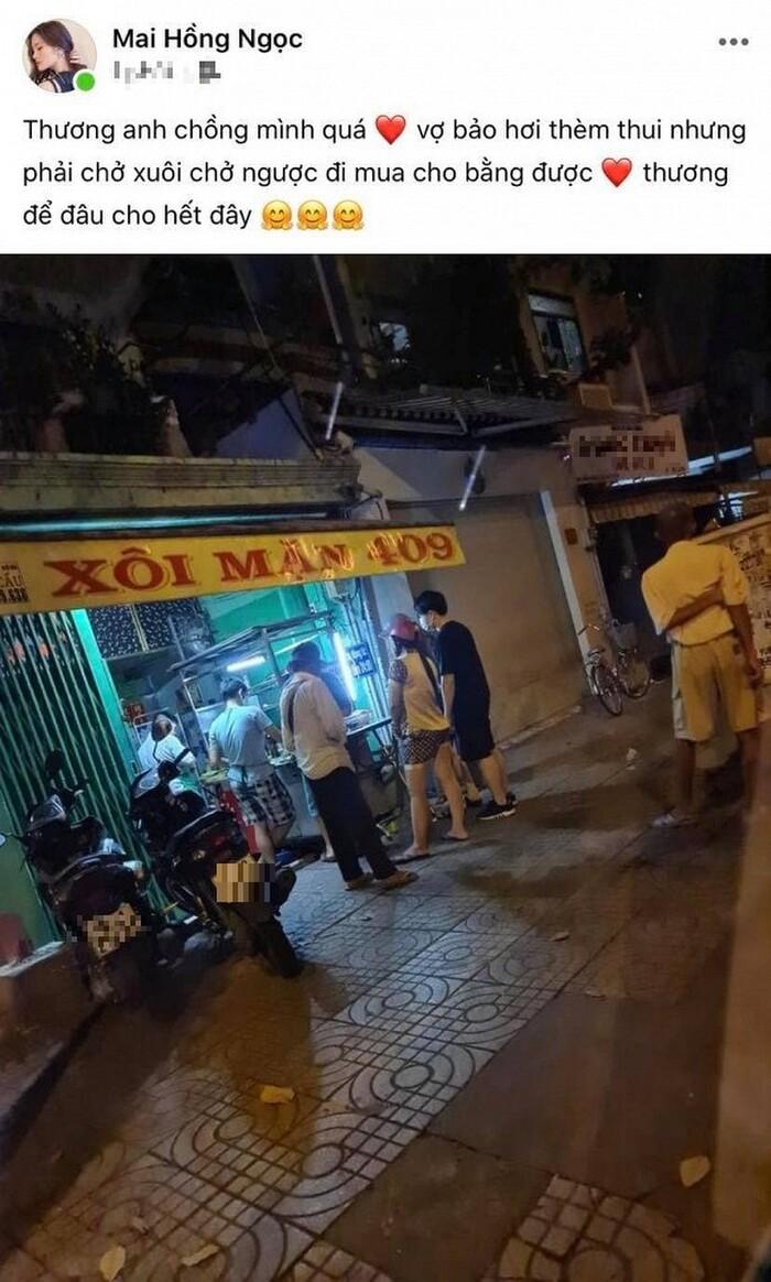 Đông Nhi cho biết dù đã tối muộn nhưng Ông Cao Thắng vẫn chạy xe đi tìm khắp nơi để mua xôi về cho cô ăn đỡ thèm