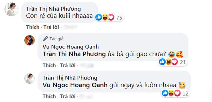 Trước vẻ đáng yêu của bé Max, Nhã Phương liền để lại bình luận nhận con rể, đòi làm thông gia với MC Hoàng Oanh