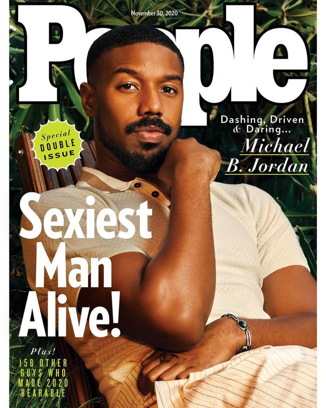 Michael B. Jordan trên bìa ấn phẩm 'Sexiest Man Alive 2020'.