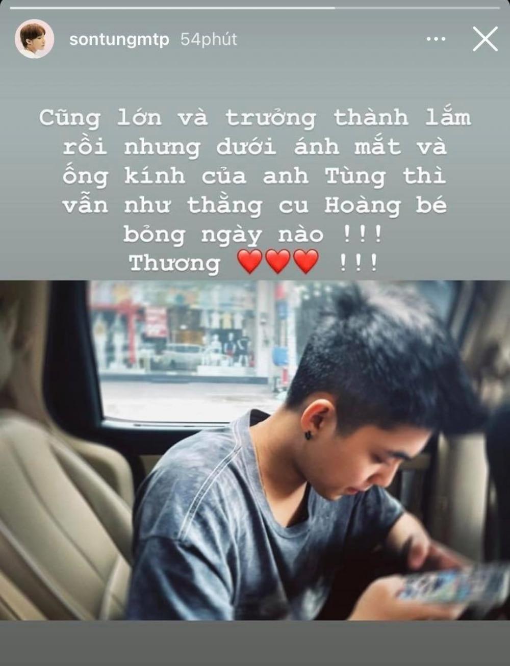 Sơn Tùng M-TP khiến dân mạng tan chảy với lời nhắn ngọt ngào gửi đến em trai Việt Hoàng 1