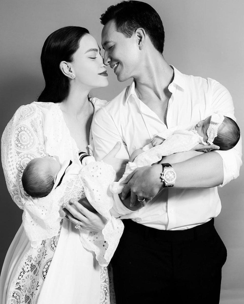 Hiện vợ chồng Kim Lý - Hồ Ngọc Hà tập trung thời gian chăm sóc hai thiên thần nhỏ