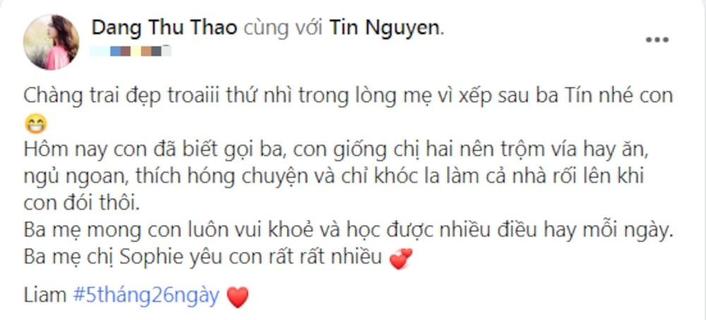 Hoa hậu Đặng Thu Thảo lần đầu khoe ảnh cận mặt con trai siêu phẩm 5