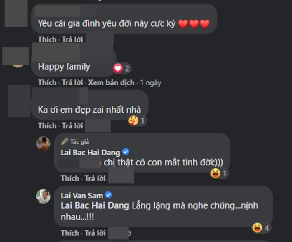 Nhà báo Lại Văn Sâm không ngần gại gia nhập hội trêu chọc con trai