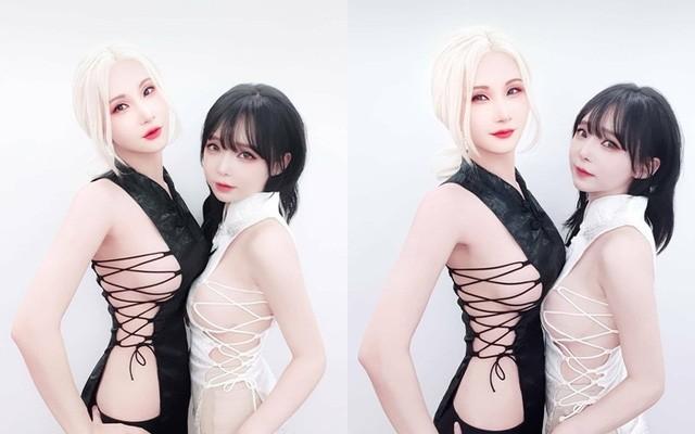 Màn xuất hiện có phần gợi cảm quá đà của hai cô nàng cosplayer