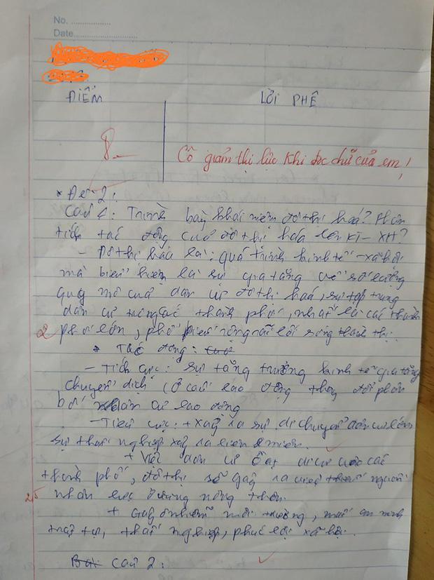 Bài kiểm tra chữ xấu hơn gà bới, cô giáo đưa ra lời phê cực gắt, tuy nhiên trên thực tế, dù với bất kỳ lý do nào thì ai nấy cũng đều nể phục khả năng đọc hiểu của thầy cô