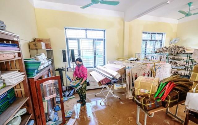 Nhiều trường học tại miền Trung thiệt hại nặng nề sau đợt lũ lụt lịch sử vừa qua. Ảnh: TL