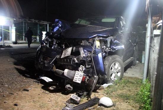 Hiện trường xảy ra vụ tai nạn giao thông khiến 4 người tử vong tại Phú Yên. Ảnh: Dân Trí