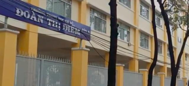 Trường THCS Đoàn Thị Điểm (TP Cần Thơ) - nơi xảy ra vụ nữ sinh đánh bạn ngày 9/6 gây xôn xao dư luận.