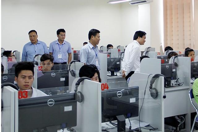 Đại học Quốc gia Hà Nội đã từng tổ chức các kỳ thi trên máy tính. Ảnh: VNU