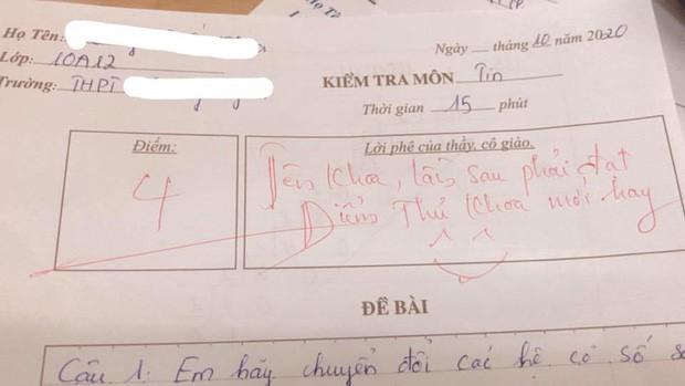 Thầy giáo cho đề kiểm tra cực khó, học trò khóc ròng nhưng lại cười ngay vì loạt lời phê cưng xỉu 1