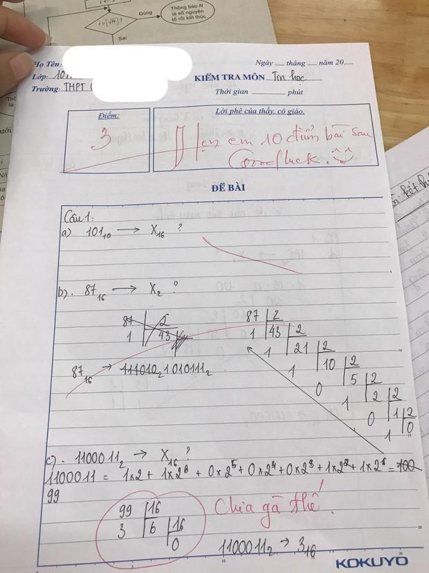 Thầy giáo cho đề kiểm tra cực khó, học trò khóc ròng nhưng lại cười ngay vì loạt lời phê cưng xỉu 0