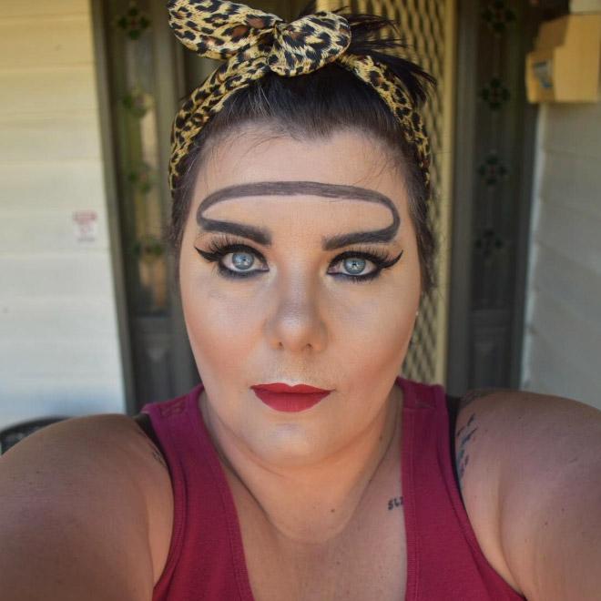 Trend mới kỳ quặc của phái đẹp trên Instagram: Các chị em xê ra để lông mày nhọ nồi 'vô cực' lên ngôi! 9