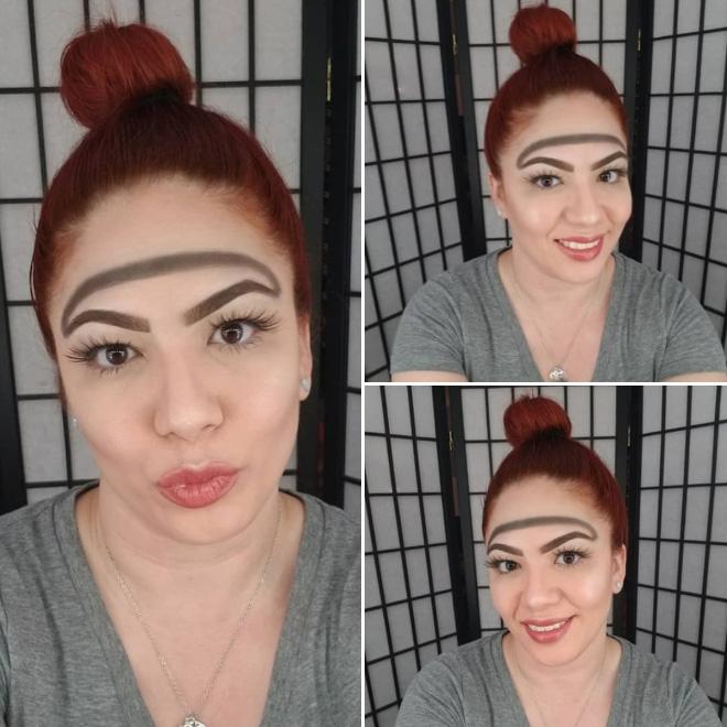 Trend mới kỳ quặc của phái đẹp trên Instagram: Các chị em xê ra để lông mày nhọ nồi 'vô cực' lên ngôi! 17