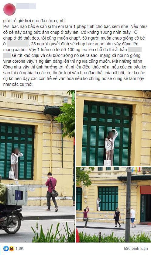 Cô gái trẻ trèo lên cửa sổ nhà cổ Hà Nội để 'sống ảo' nhưng nhận gạch nhiều nhất lại là chủ nhân bức ảnh chụp trộm 0