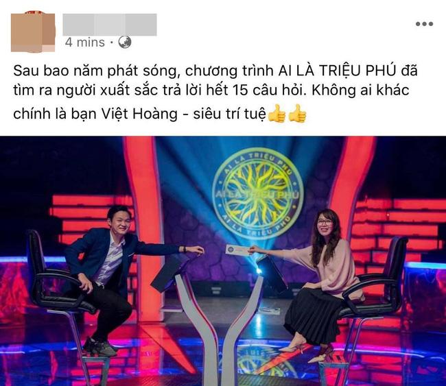 Việt Hoàng đã thắng giải 'Ai là triệu phú'?