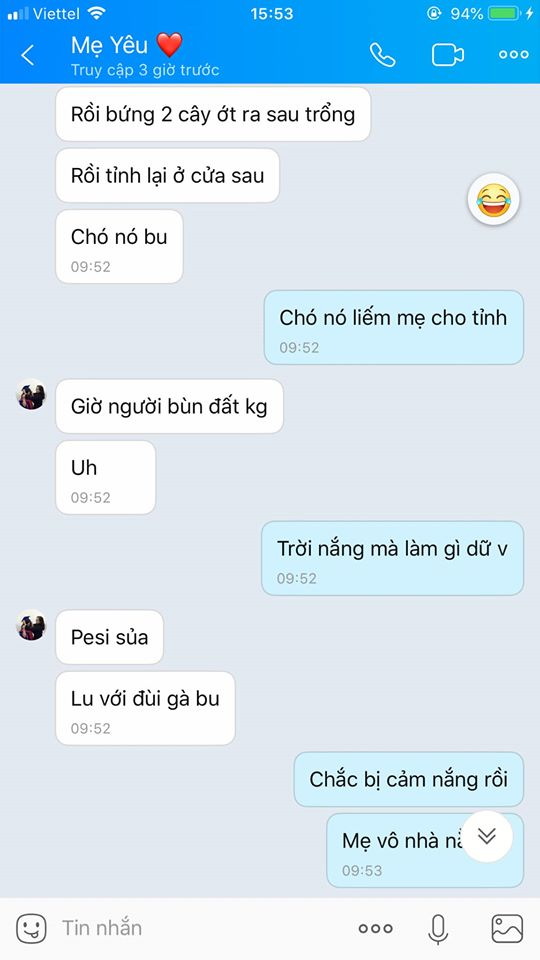 Tin nhắn mẹ cô gái gửi kể về chuyện 3 boss cứu mẹ cô khi bị ngất.