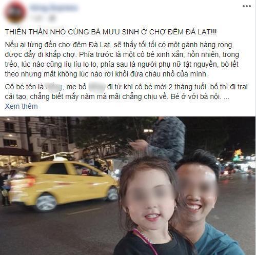 Bài viết về cô bé được đăng tải trên MXH.