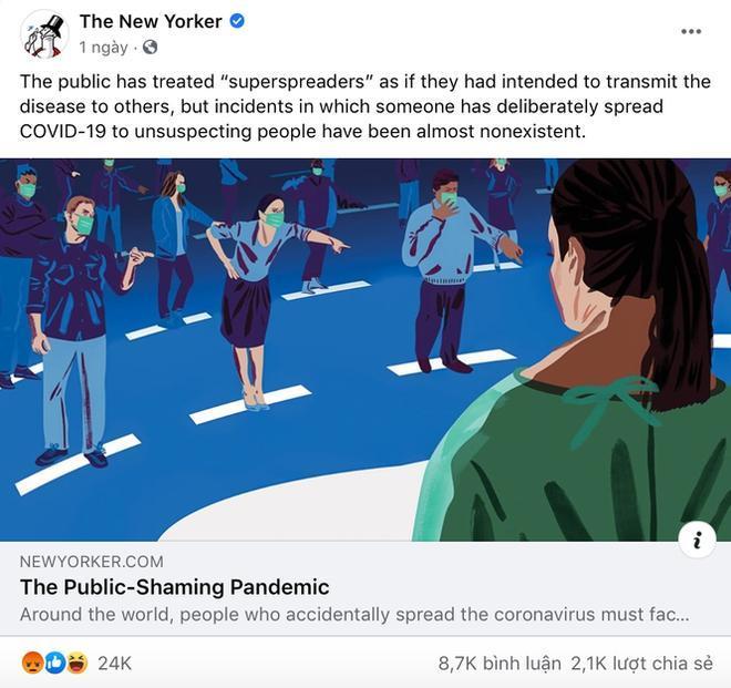 Bài đăng trên tờ The New Yorker khiến cộng đồng mạng dậy sóng.