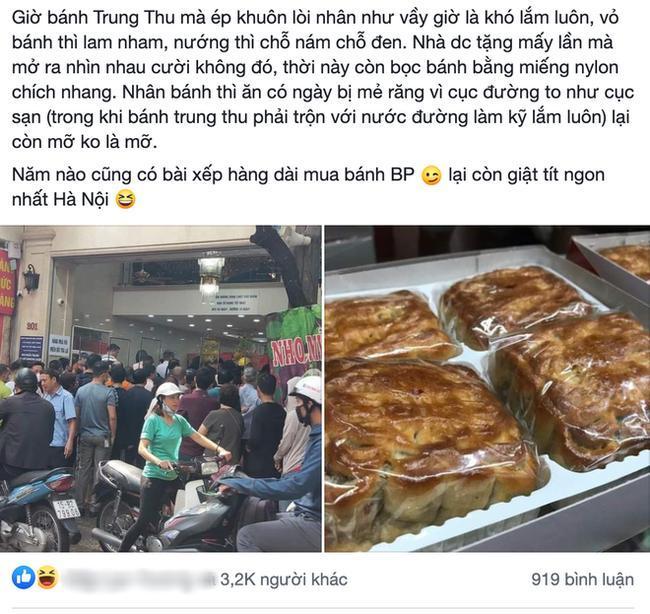 Chê chất lượng sản phẩm của tiệm bánh Trung thu truyền thống ở Hà Nội, 'chủ thớt' bị dân tình phản ứng.