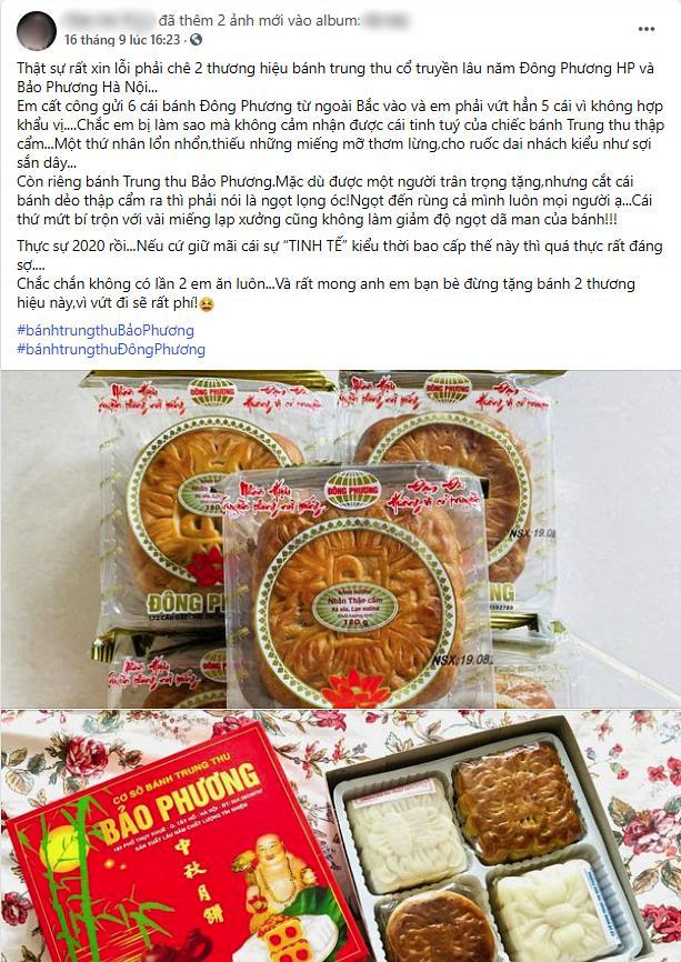 Bánh Trung thu Bảo Phương lừng danh Hà Nội bị tố 2 lần liên tiếp trong 3 ngày, dân tình xôn xao nghi ngờ chất lượng bánh đang đi xuống? 5
