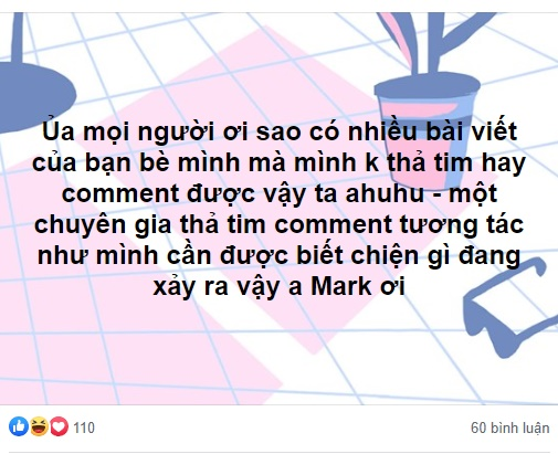 Chuyện là...anh Mark cho Facebook đổi thuật toán....
