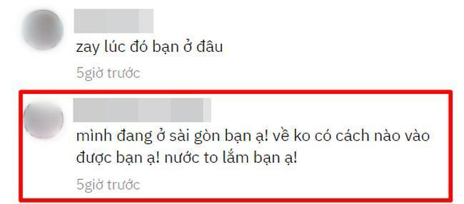 Đoạn bình luận của một thành viên mạng tự nhận là con trai của người phụ nữ Quảng Bình, cho biết hiện tại mẹ anh đã an toàn.