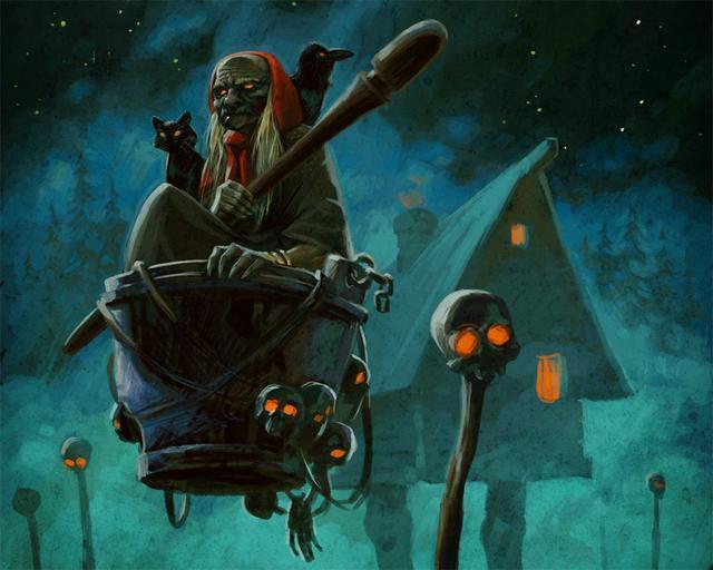 Baba Yaga thường bắt cóc trẻ con và đe dọa sẽ ăn chúng.
