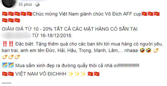 Shop online đua nhau giảm giá cho khách trùng tên Quang Hải, Văn Lâm để ăn mừng chiến thắng AFF Cup 1