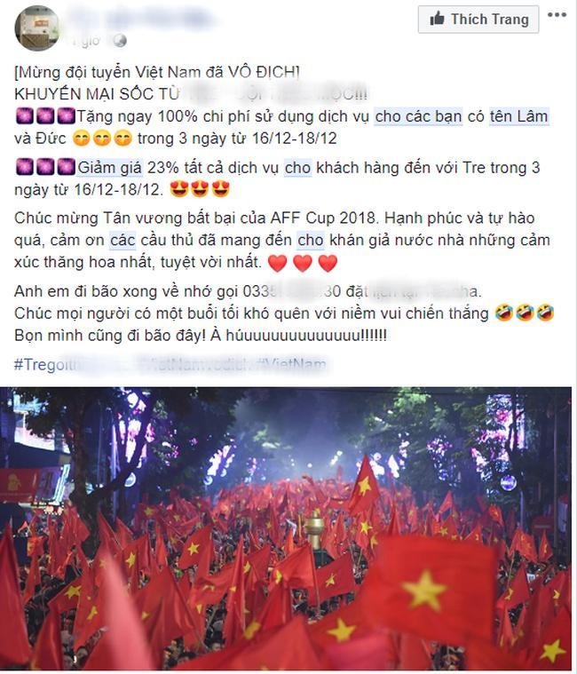 Shop online đua nhau giảm giá cho khách trùng tên Quang Hải, Văn Lâm để ăn mừng chiến thắng AFF Cup 3
