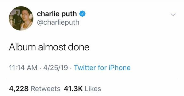 Dòng tweet đã được Charlie đăng tải vào ngày hôm qua và nó đã ngay lập tức được lan truyền rộng rãi.
