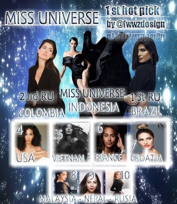 Đương kim Hoa hậu Hoàn vũ Indonesia được nhiều trang sắc đẹp dự đoán ở ngôi vị cao nhất.