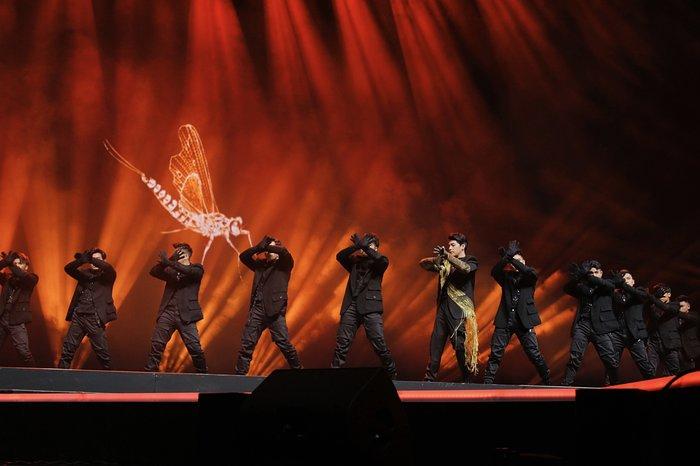 Không chỉ fan Việt mà cả những khán giả Hàn Quốc cũng tỏ ra rất hào hứng đối với những sân khấu đặc sắc từ Noo Phước Thịnh.