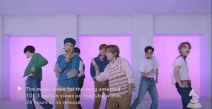 Clip hot: Sân khấu của nghệ sĩ châu Á đầu tiên xuất hiện trên Press Play của GRAMMYs - BTS với Dynamite! 2