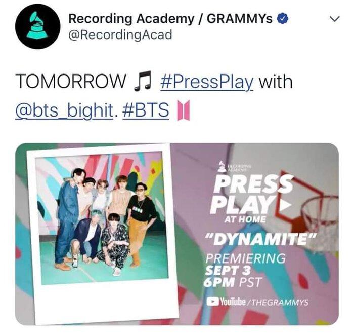 Clip hot: Sân khấu của nghệ sĩ châu Á đầu tiên xuất hiện trên Press Play của GRAMMYs - BTS với Dynamite! 5