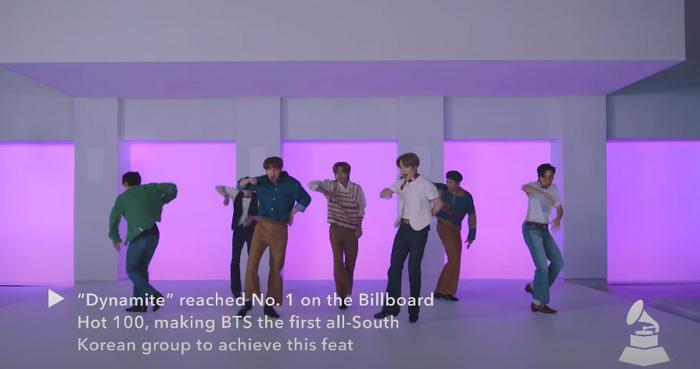 Clip hot: Sân khấu của nghệ sĩ châu Á đầu tiên xuất hiện trên Press Play của GRAMMYs - BTS với Dynamite! 4