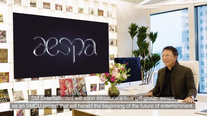 Chủ tịch SM - Lee So Man: 'Sự ra đời của AESPA mang tính cách mạng' 2