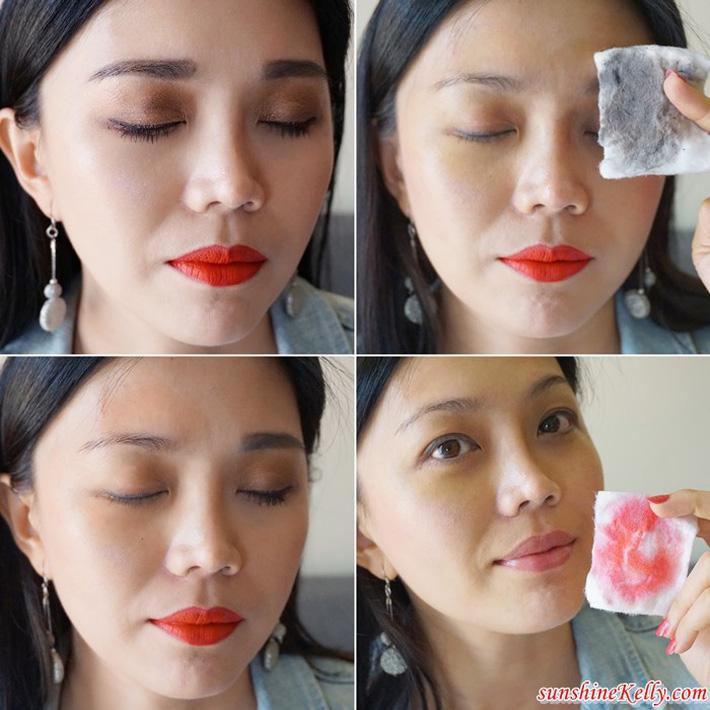 Tẩy sạch lớp trang điểm ngay cả khi make up đậm nét, sau khi làm sạch không gây khô da.
