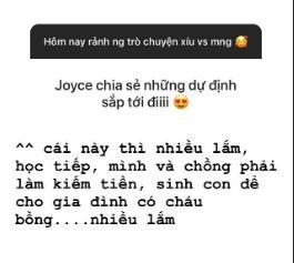 Joyce Phạm thoải mái chia sẻ về nhiều vấn đề riêng tư hậu đám cưới.