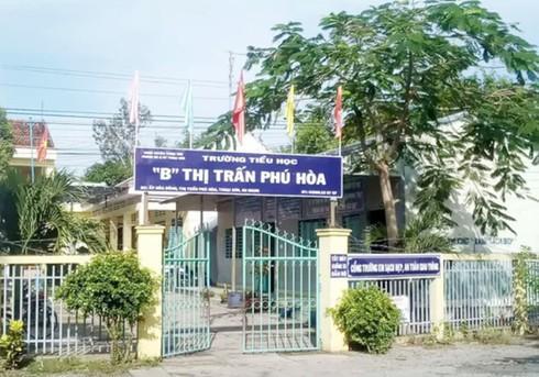 Trường Tiểu học B thị trấn Phú Hòa (ảnh: Người Lao Động)