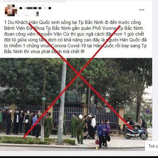 Thông tin một người đàn ông Hàn Quốc tử vong bất thường bên vệ đường ở TP. Bắc Ninh gây hoang mang trên mạng xã hội